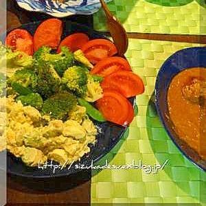 温野菜のアボカドマスタードマヨソース添え