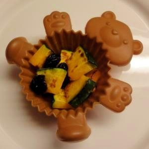 お弁当の箸休めに☆かぼちゃとレーズンのメープル和え