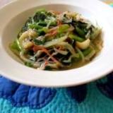 小松菜ともやしで中華風 節約の一品