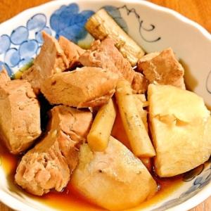 豚ヒレ肉とサトイモの角煮