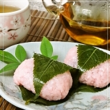 Staub鍋で炊くもち米の『桜餅』