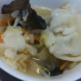 具だくさん餃子スープ