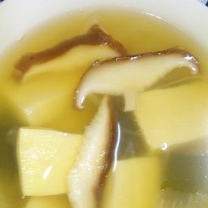 高野豆腐と椎茸のスープ