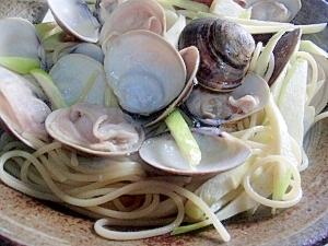 蛤とマコモダケの優しいボンゴレ