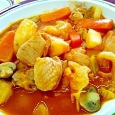 チキンとごろごろ野菜のトマト煮込み