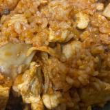 鶏胸肉と舞茸のチキンライス
