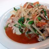 豚野菜炒めのせてカレーライス