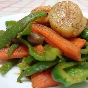 野菜のカレー炒め