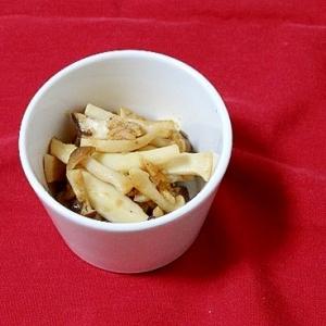 うちの副菜「きのことツナの炒め物」