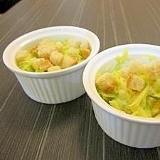 レンジキャベツとゆでたまごのサラダ