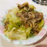 キャベツと豚肉のニンニク炒め