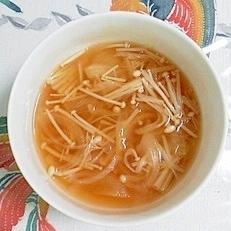 玉葱とえのきの簡単スープ