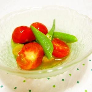 オクラとトマトの簡単めんつゆ浸し♪