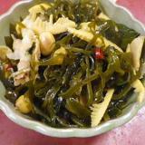 豚切り昆布ビーンズ竹の子の炒め煮