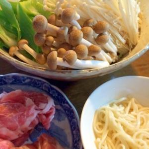 乾麺で☆うどんすき鍋