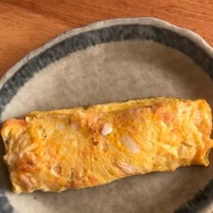 鮭フレークと天かすの白ごま卵焼き