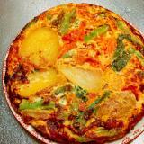 スキレットで!ゴロゴロ野菜のスパニッシュオムレツ