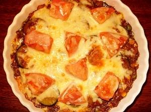 ズッキーニの焼きチーズカレー♪