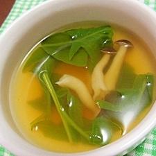 ほうれん草としめじの中華スープ