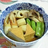 レンコン、里芋、厚揚げの煮物