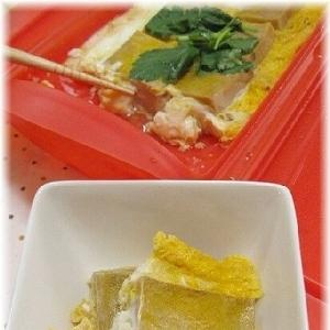 シリコンスチーマーで高野豆腐の卵とじ