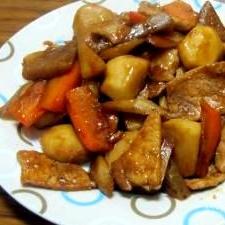 里芋と豚肉の煮物 (我が家の味)