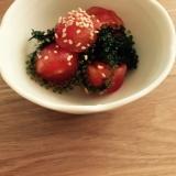うみぶどうとトマトのサラダ