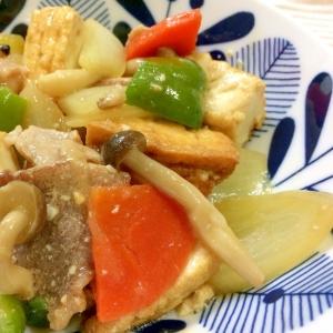 厚揚げがボリューミー!こっくり味噌味の家常豆腐