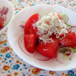 シラスのトマトサラダ