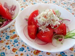 さっぱりシラスのトマトサラダ