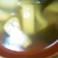 油揚げとわかめの味噌汁