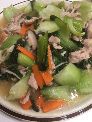 野菜がたくさんとれる!豚肉と野菜のうま塩あんかけ