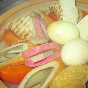 おでんの残りつゆで簡単リメイク根菜おでん