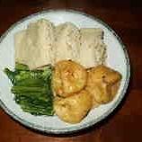 高野豆腐の印籠煮