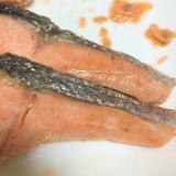焼き鮭のレモン醤油かけ