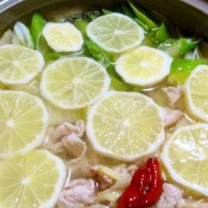 豚と白菜のレモン鍋
