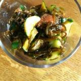 きゅうりと塩昆布と梅干のピリ辛漬け