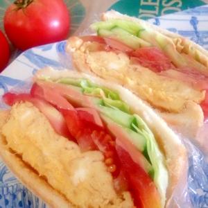 厚焼き玉子と野菜のサンドイッチ☆沼サン
