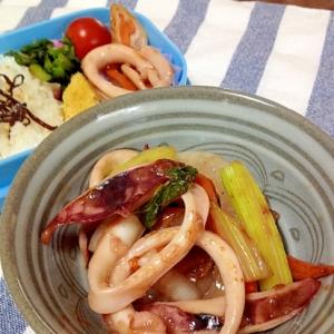 イカとセロリの炒め物