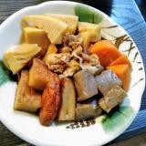 お肉ちょっとで筍とさつま揚げの色々煮物②