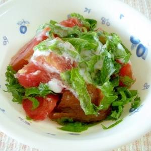 黒トマトと大葉の中華風ヨーグルトサラダ♪