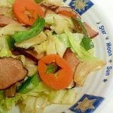 焼き豚入り野菜炒め