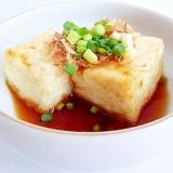 顆粒だしで揚げずに焼くだけ 揚げだし豆腐