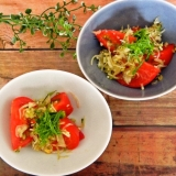 トマトとみょうがのさっぱりサラダ