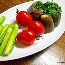 ポン酢で食べる蒸し茄子