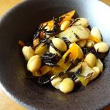 麺つゆで簡単に!大豆とひじきの煮物