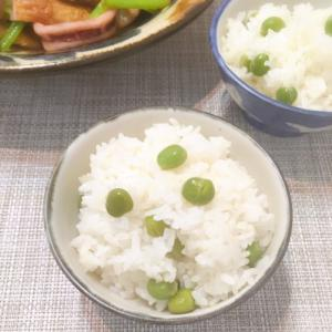 春の風味♡塩えんどう豆の混ぜご飯