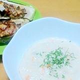 コストコマッシュポテトで濃厚スープ