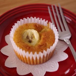 HMで作る、簡単はちみつバナナのカップケーキ