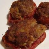 トマトの肉詰め~和風~